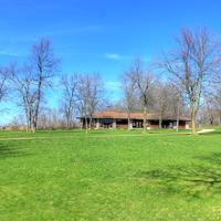 Picnic Shelter at High Cliff State Park, Wisconsin
