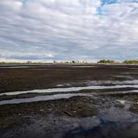Clouds over the drained Marsh