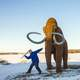 Slaying of the last Mammoth at Horicon National Wildlife Refuge, Wisconsin