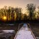 A boardwalk to sunset at Horicon National Wildlife Reserve, Wisconsin