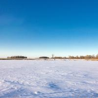 The snowy landscape at Horicon National Wildlife Reserve, Wisconsin