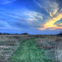 The Skies of Dusk on the Ice Age Trail, Wisconsin