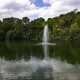 Fountain in the lake landscape