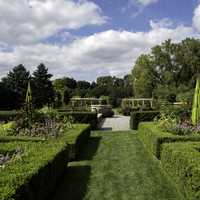 Landscape and hedges of the formal garden