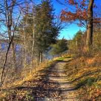 Fall Hiking Trail at Kettle Moraine North, Wisconsin