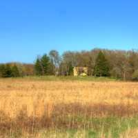 Landscape with house at Kettle Moraine South, Wisconsin