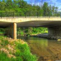 Bridge over the Kinnickinnic at Kinnicat State Park, Wisconsin