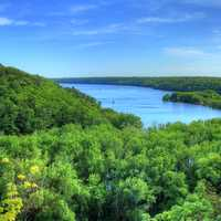 Overlook at the St. Croix at Kinnickinnic State Park, Wisconsin