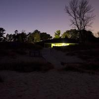Visitor Center in the Dark at Kohler-Andrae State Park, Wisconsin