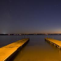 Starry view from the docks at Lake Kegonsa State Park, Wisconsin