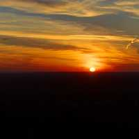 Sunset in the sky at Lapham Peak State Park, Wisconsin