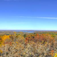 Overview from the tower at Lapham Peak State Park, Wisconsin