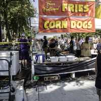 Battered Fries and Corndog Stand at Taste of Madison