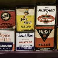 Boxes of mustard at National Mustard Museum