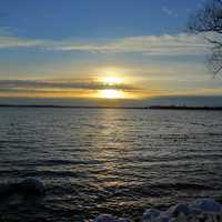 Bright Sunset over Lake Mendota