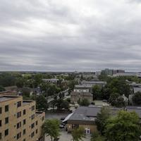 Cloudy skies over downtown Madison