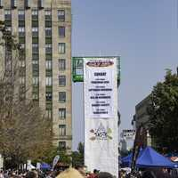 Giant Banner displaying events in Madison