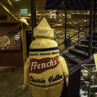 Giant Mustard bottle at the National Mustard Museum