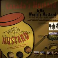 Giant Mustard Bottle Sign at National Mustard Museum