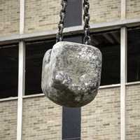 Large Stone Wrecking Ball