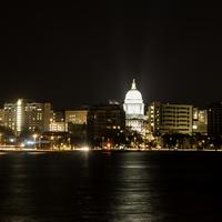 Madison Skyline at Night in Wisconsin
