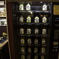 Mustard vending machine at National Mustard Museum