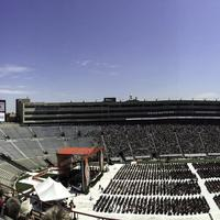 Panorama of Camp Randall during graduation in Madison, Wisconsin