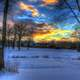 Winter Sunset in Madison, Wisconsin