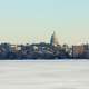 City Skyline in the winter in Madison, Wisconsin