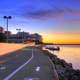 Detailed view of Bike Path at Dawn in Madison, Wisconsin