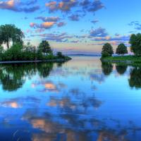 Dusk Reflection in Madison, Wisconsin