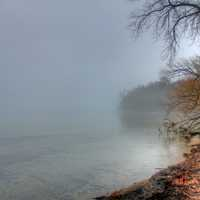 Foggy Lakeshore in Madison, Wisconsin