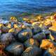 Rocks on the Shore in Madison, Wisconsin