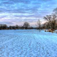 Snowfield in Madison, Wisconsin