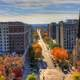 Street view from observation deck in Madison, Wisconsin