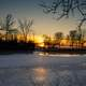 Icy Sunset at Tenney Park in Madison, Wisconsin