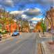 View up Langdon St. in Madison, Wisconsin