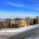 Winter Landscape view in Madison, Wisconsin