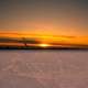 Sunset Over the Ice on Lake Mendota in Madison, Wisconsin