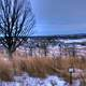 Winter landscape from hill in Madison, Wisconsin
