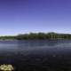 Lake water and landscape panorama on the Military Ridge State Trail, Wisconsin