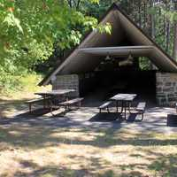 Picnic Cabin at Mill Bluff State Park, Wisconsin