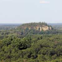 View of Bluff at Mill Bluff State Park, Wisconsin