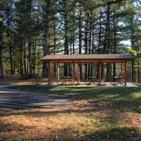 Picnic Area at Mirror Lake State Park, Wisconsin