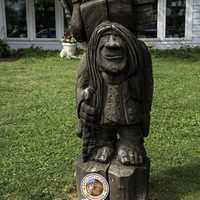 Wooden Lawn Troll in Mount Horeb