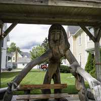 Wooden Statue of a troll in Mount Horeb