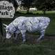 Do not touch this cow at New Glarus Community Park