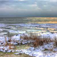 Frozen shoreline at Newport State Park, Wisconsin