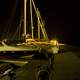 Boats at night in the Harbor at Ellison Bay, Wisconsin