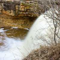 Closer view of the waterfall at Fonferek Falls, Wisconsin Free Stock Photo